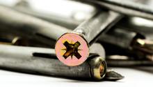 Metal Wall Anchors Close-up