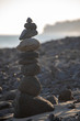 Pebble tower at the beach