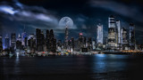 Fototapeta Nowy Jork - Manhattan skyline at dusk