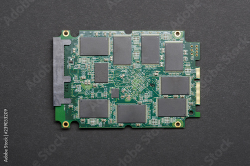 Photo  SSD drive Board with chips