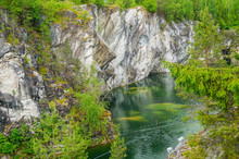 Marble Quarry In Ruskeala Park...