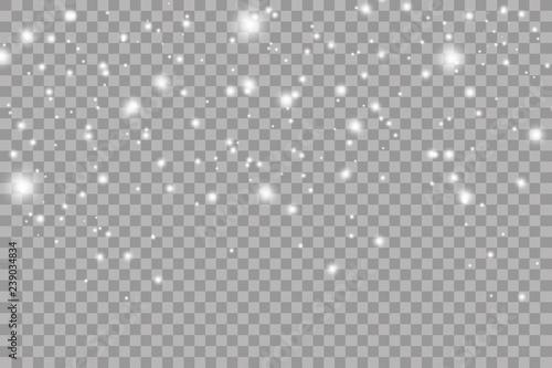 Obraz Glow light effect. Vector illustration. Christmas flash.Star dust. Decoration for advertising - fototapety do salonu