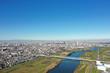 江戸川上空からの風景