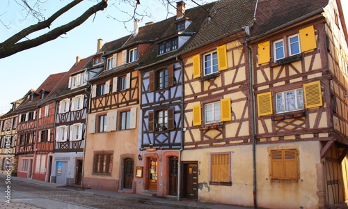 Photo sur Toile Con. Antique Vieille Ville Colmar Alsace France - Colmar Old Town