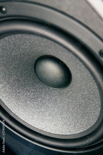 Foto op Plexiglas Stenen in het Zand audio speaker