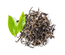 Fresh And Dry Tea Isolated On ...