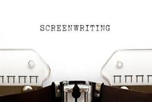 Screenwriting Vintage Typewrit...