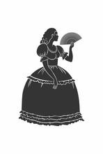 Medieval Lady  Umbrella