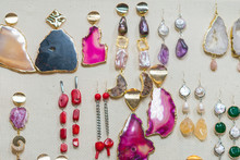 Jewelry From Semi-precious Stones. Earrings With Stones
