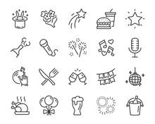 Set Of Celebration Icons, Such...