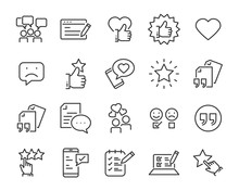 Set Of Feedback Line Icons, Su...