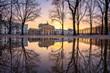 canvas print picture - Brandenburger Tor im Winter, Berlin, Deutschland