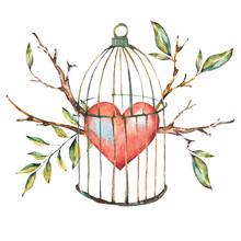 Valentines Day Watercolor Natu...