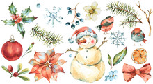 Winter Watercolor Christmas Se...