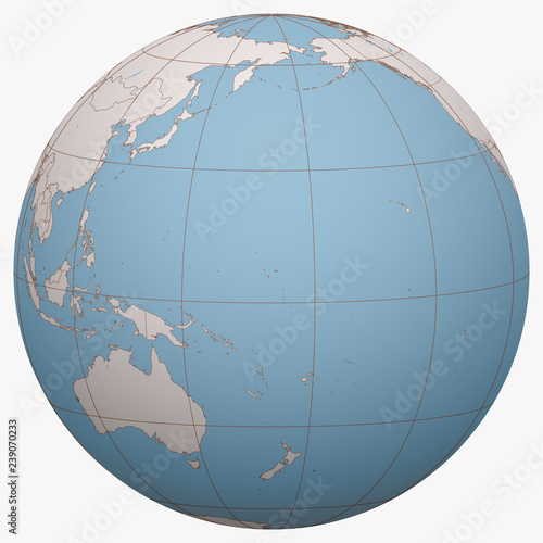 Marshall Islands on the globe. Earth hemisphere centered at the ...