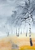 foggy autumn park - 239072652