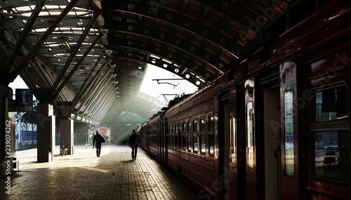 Obraz pociąg  train-in-the-station