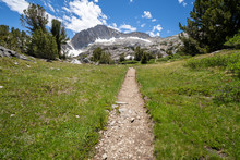 20 Lakes Basin Backpacking And Wilderness Hiking The California Eastern Sierra Nevada Mountains In The Summer.