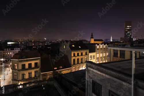 brussels evening cityscape belgium