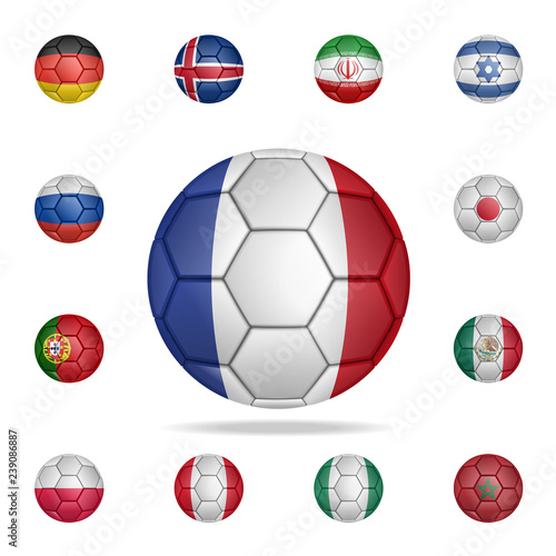 f5ab9c57d National football ball of France. Detailed set of national soccer balls.  Premium graphic design. One of the collection icons for websites, web  design, ...
