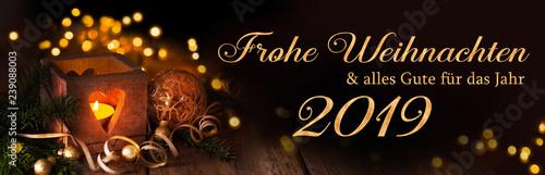 Fotografía  Frohe Weihnachten und alles Gute für das Jahr 2019  -  Weihnachtskarte, deutsch,