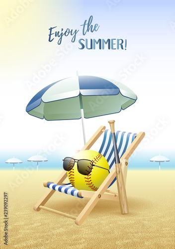 Enjoy The Summer Sports Card Softball