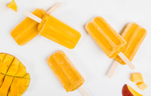 Frozen Mango Popsicles