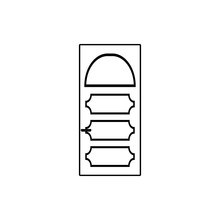 Iron Door Icon. Element Of Door For Mobile Concept And Web Apps Icon. Thin Line Icon For Website Design And Development, App Development