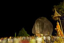 Midnight Buddha Foot Khao Khitchakut Chantaburi Thailand.