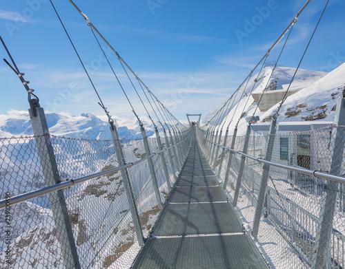 Fotografía  Suspension bridge on Mt. Titlis  in Switzerland