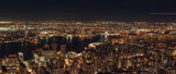 Fototapeta Nowy Jork - Aerial View of the Williamsburg Bridge From the Empire State Building Rooftop