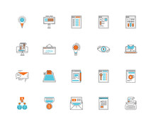 Set Of 20 Icons Such As Typewriter, Browser, Email, Filter, Group, Vision, Chat, Open, Icon Pack