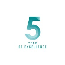 5 Year Of Excellence Vector Template Design Illustration