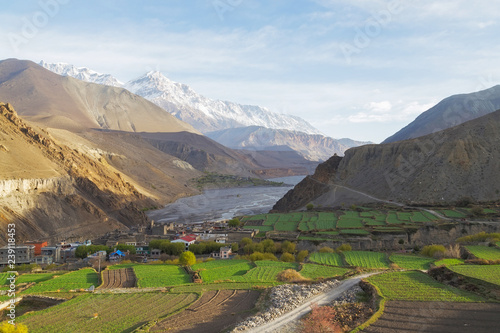 Kagbeni city in lower Mustang district, Nepal Canvas Print