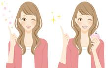 香水エチケット マナーレッスン 笑顔の若い女性