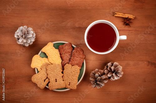 Traditional German Christmas Spekulatius Cookies Almond Biscuits
