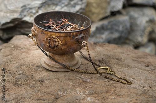 Fototapeta traditional censer in Nepal