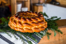 Romanian Traditional Braided Bread