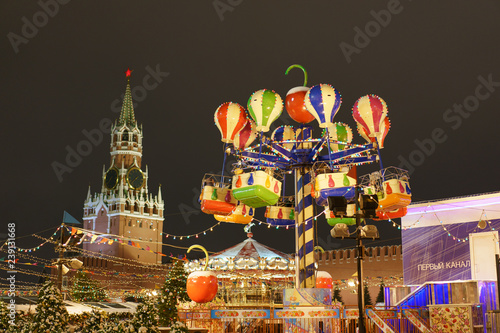 Photo Decoration of the Moscow Red Square at last days of 2018 year
