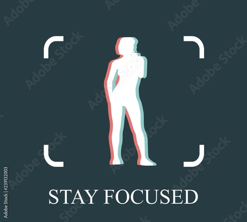 Photo  Stay focused inspirational inscription