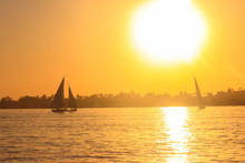 View Of The Nile River With Sa...