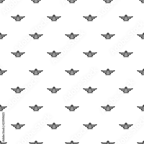 Squadron pattern seamless vector repeat geometric for any web design Tablou Canvas