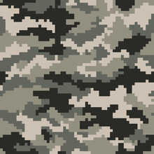 Camouflage Pattern Digital Pix...