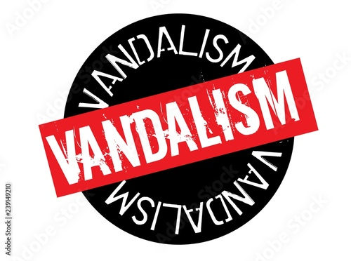 Fotografie, Obraz  vandalism stamp on white