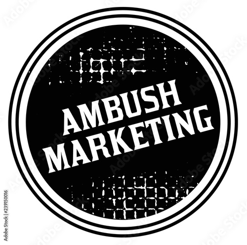 Photo ambush marketing advertising sticker