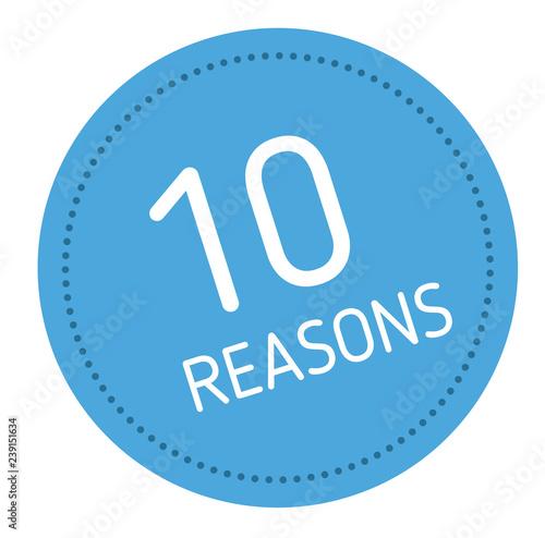Cuadros en Lienzo  ten reasons advertising sticker