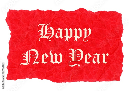 Fotografia  Happy new year label