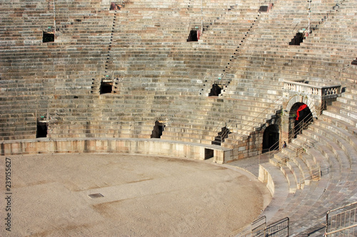 Ancient steps of the arena in Verona, Italy Canvas Print
