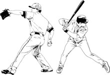 Set Of Vector Drawings On The Theme Of Sport Drawn Ink From Hands Without A Background