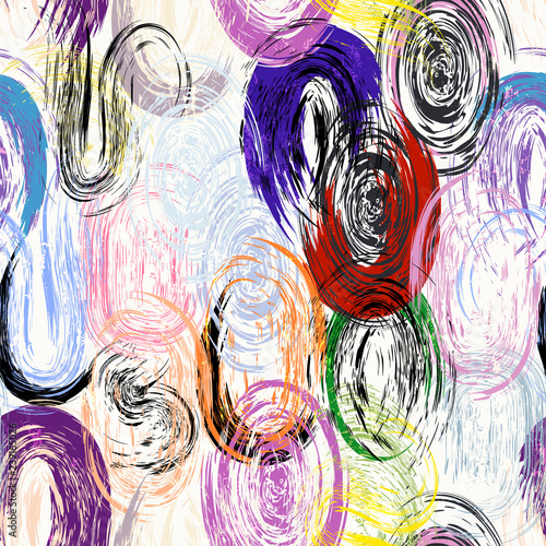 seamless paintstroekes background pattern, multicolored, grunge styles